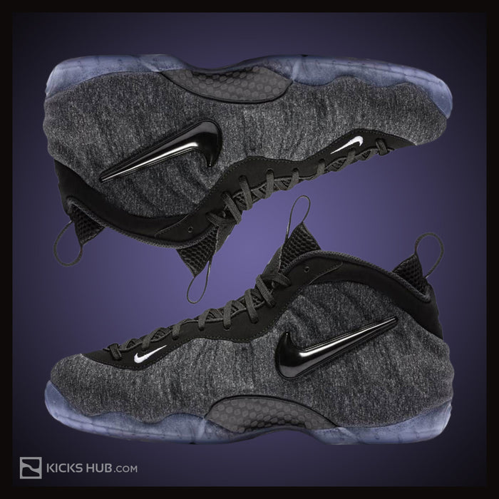 Nike Air Foamposite Pro Fleece Men's Shoes Dark Grey Heather/Black