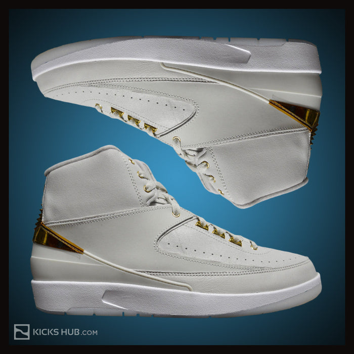 Nike Air Jordan 2 Retro Q54 Light Bone Metallic Gold White