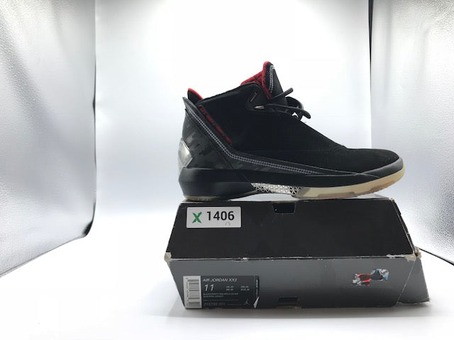 Air Jordan 22 (XX2 or XXII)-Black / Varsity Red-Metallic Silver
