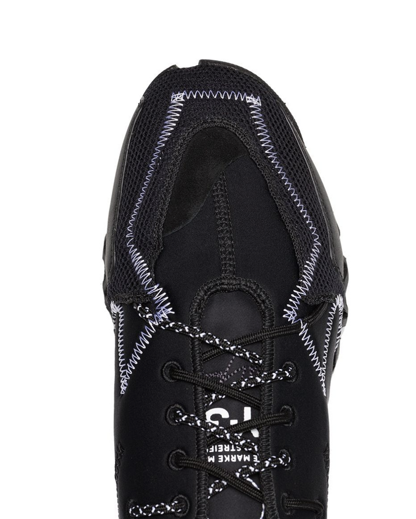 Y-3 black ekika stitch detail sneakers
