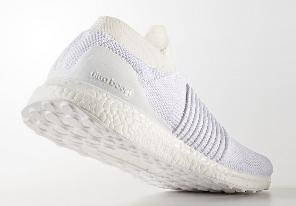Men's Adidas UltraBOOST Laceless Running Shoe White