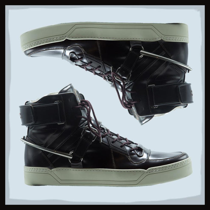 GUCCI Leather Sneaker With Horsebit
