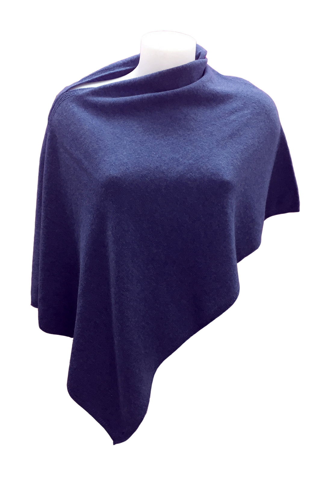 Cashmere on line: cappa donna colore blu denim