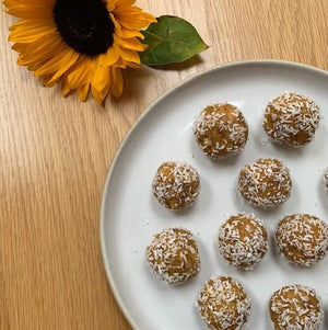 Mango and Coconut Protein Balls - The Garden Eatery