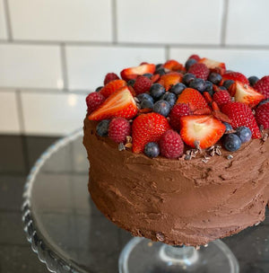 Vegan Chocolate Ganache Cake