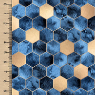 PREORDER Blue Gold Hexagons