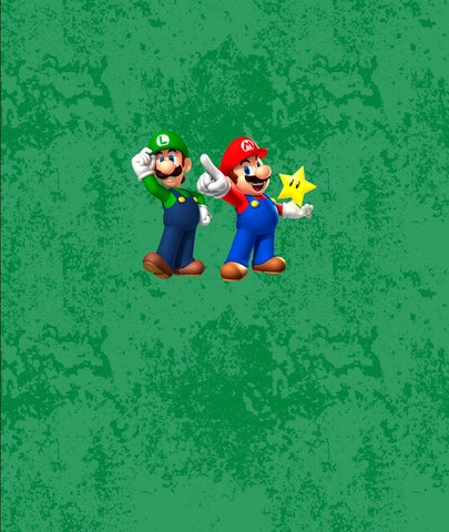 Gamer Bros Star on Green Bamboo Spandex Child Panel