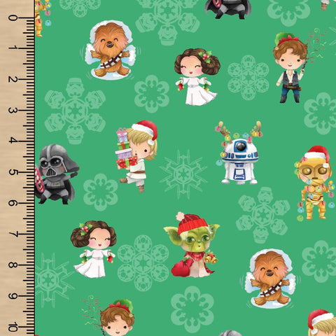 PREORDER Space Christmas Green Snowflake