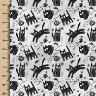 **NEW** PREORDER Scratchy Cats Watercolour Grey
