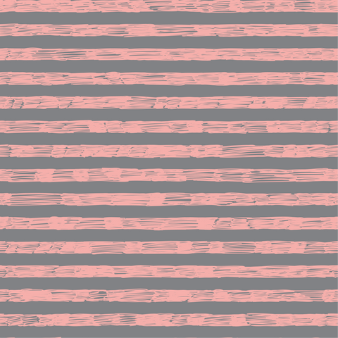 Sketchy Stripe Grey & Pink FT