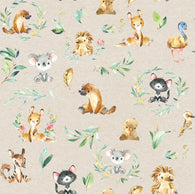Aussie Animals Woven Cotton