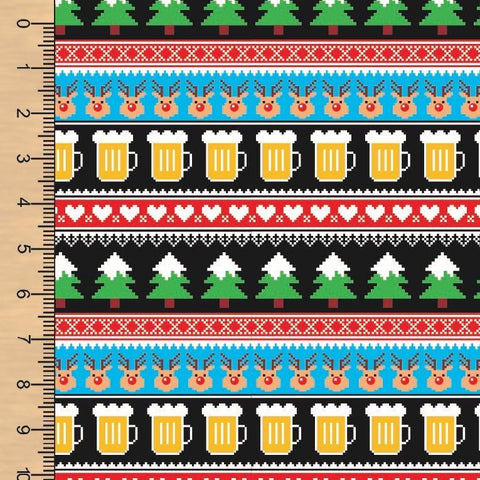 Beer Christmas Sweater Board Short