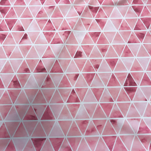 Watercolour Triangles Pink Swim