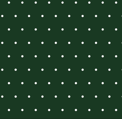 Hunter Green Dots Woven
