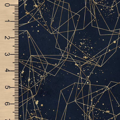 Geometric Navy Gold BL
