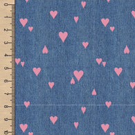 Denim Hearts Dusty Rose Athletic