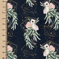 Geometric Floral Navy Gold BL
