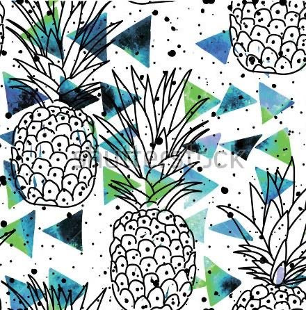 Watercolour Pineapples FT