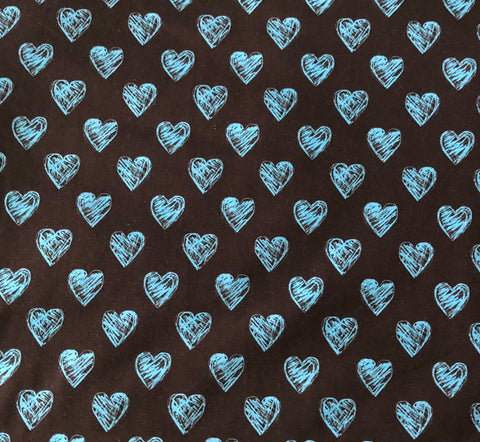 Sketchy Mini Hearts Blue CL