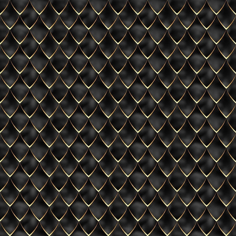 Night Gold Dragon Scales Woven