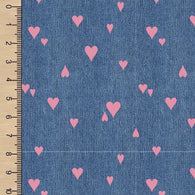 Denim Hearts Dusty Rose BL