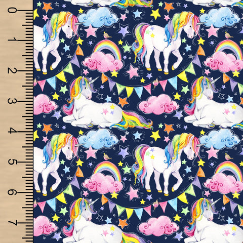 Unicorns Woven Cotton