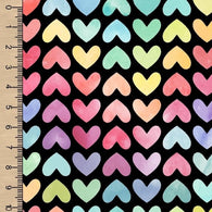 **NEW** PREORDER Watercolour Rainbow Hearts Black
