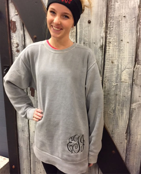Comfort Color Sweatshirt with Monogram