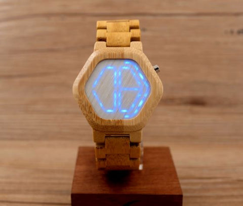 Montre Led Full Bois