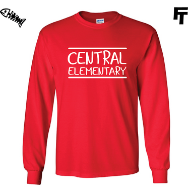 Central Elementary Red Long Sleeve Shirt
