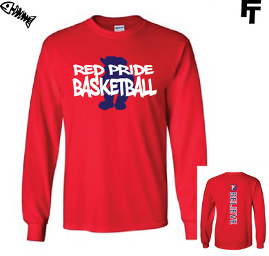 Plainfield Red Long Sleeve TShirt Plainfield Quakers Basketball