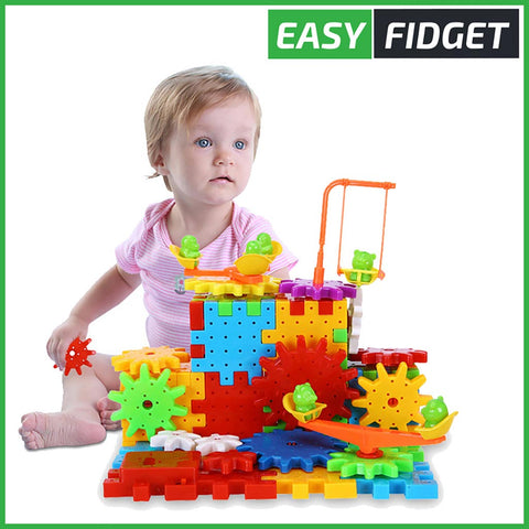 BLOCS DE CONSTRUCTION ET ENGRENAGES - Easy Fidget