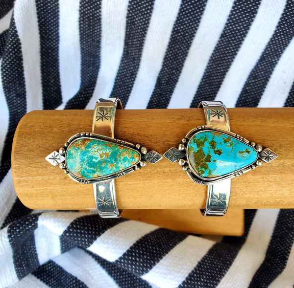 Gypsy Dreams Cuff C & D (Handmade Sterling & Turquoise)