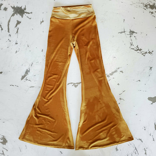 Golden Velvet Bell-Bottoms (Women)