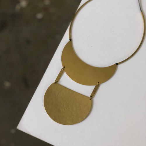 Retro Brass Necklace
