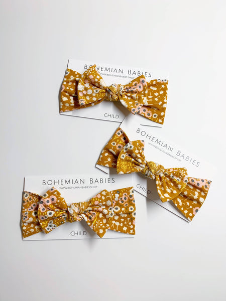 Bohemian Babies - Bow Headband: Amber Meadows