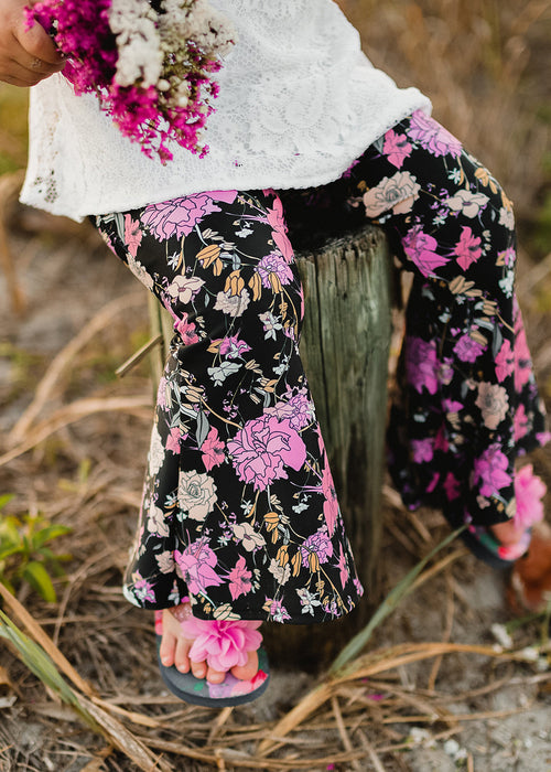 Flower Gypsy Bell-Bottoms