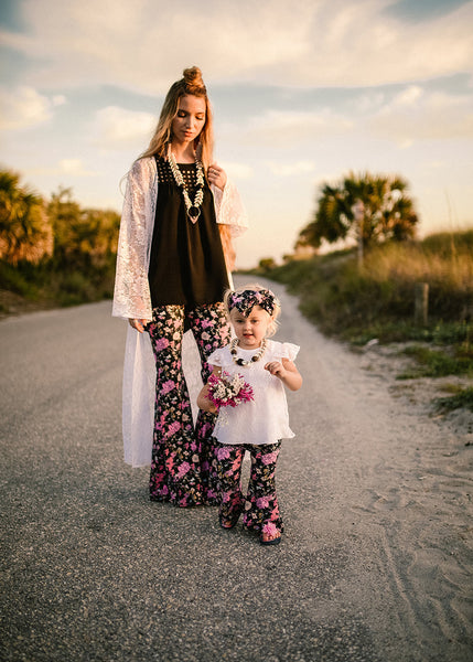 Flower Gypsy Mommy & Me Bell-Bottom SET