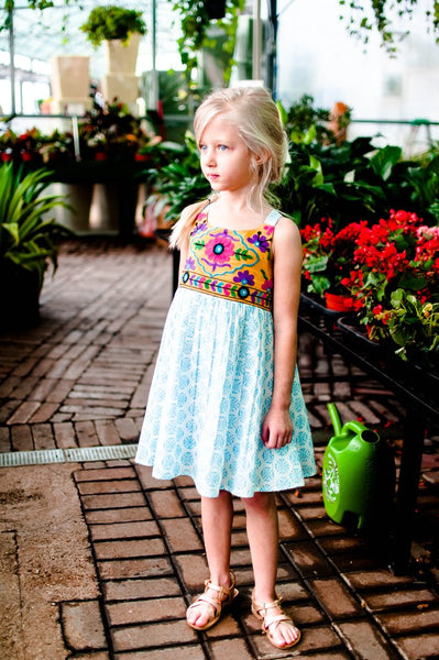 Baby Blue Boho Dress/Top