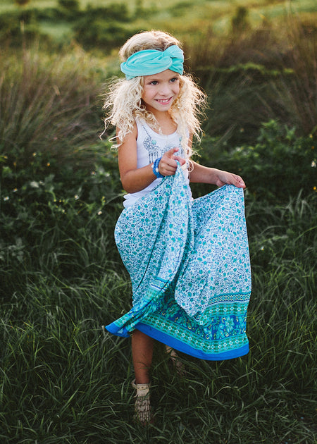 Tropical Bloom Tassel Skirt