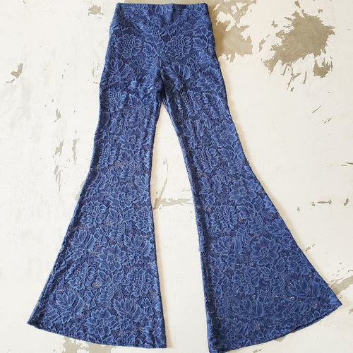 Vintage Blue Lace Bell Bottoms (Women)