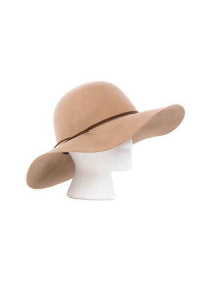 Camel Bohemian Wool Floppy Hat