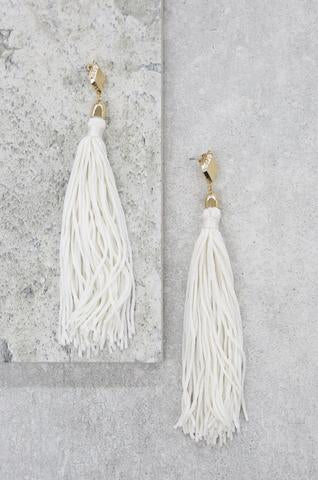 Mustard Tassel Earrings