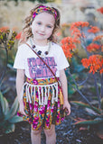 Flower Child T-shirt (Brown Distressed) (Childrens size)