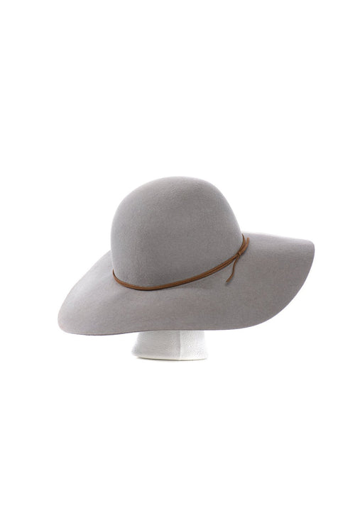 Grey Bohemian Wool Floppy Hat