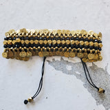 Gypsy Coin Bracelet (Black and Gold)