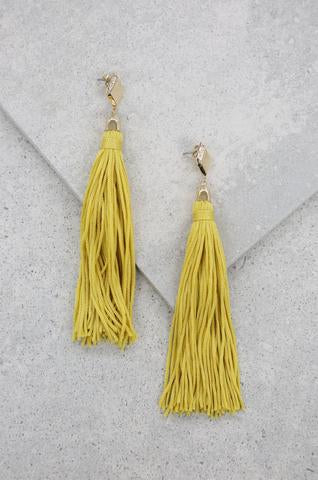 Turquoise Layered Tassel Earrings