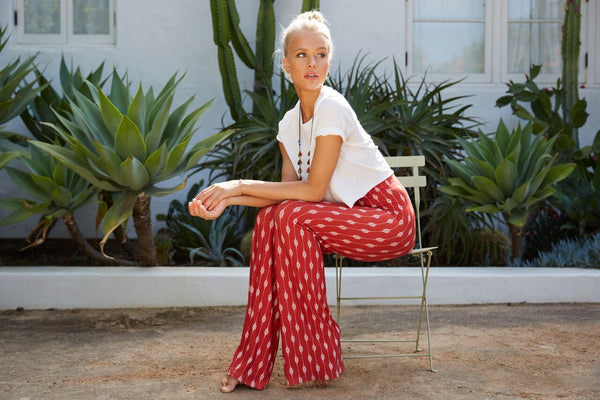 Wild & Free relaxed fit pant (Rose Red)
