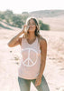 Peace Muscle Tank (Rose/White)