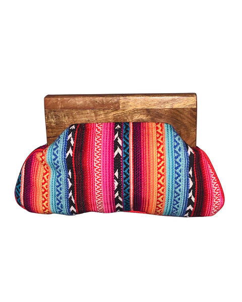 Serape Striped Clutch